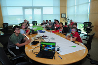4H Students Gathered in the Conference Room