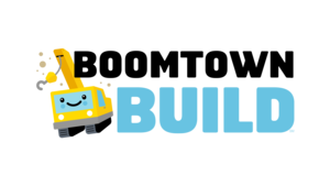2019-2020 First Lego League Jr Expo Logo: Boomtown Build